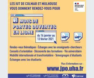 Le mois des portes ouvertes en ligne dans les IUT de Mulhouse et Colmar