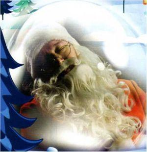 Le père Noël est endormi
