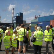 Visite du Port d\'Ottmarsheim