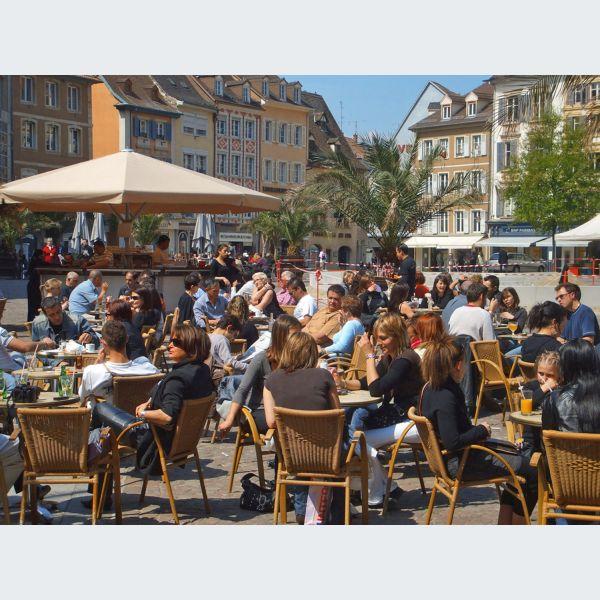 Terrasses des caf s bars mulhouse - Restaurant terrasse jardin grenoble mulhouse ...