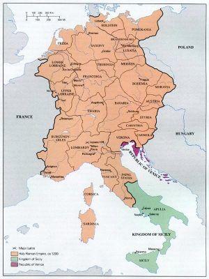 Le Saint Empire Romain en 1200 était d\'une puissance impressionante