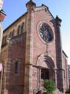 Le style roman est bien visible sur la synagogue d\'Obernai