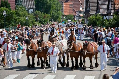 Le traditionnel défilé pendant la Fête du Streisselhochzeit à Seebach