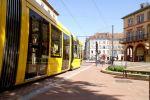 Le tram de Mulhouse, place de la République