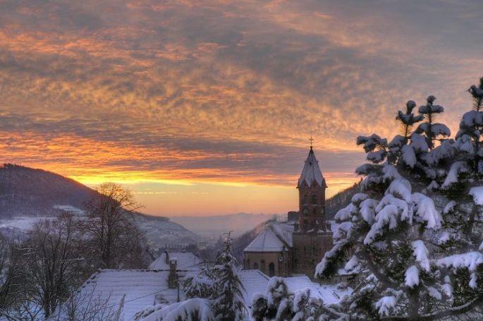 Le village de Buhl sous la neige...