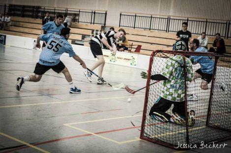 L\'équipe de floorball Les Aigles de Mulhouse