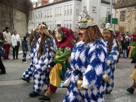 Les personnages du Carnaval du Bouc Bleu à Schiltigheim
