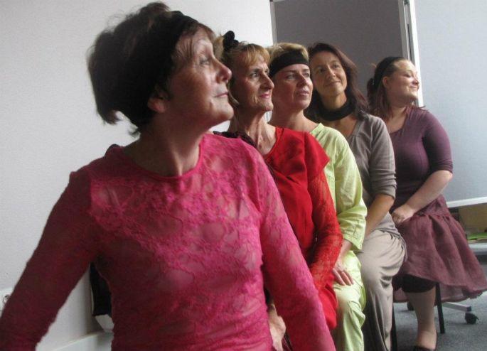 Les chanteuses de la troupe des Offenbachiades