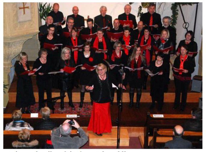 Les Choristes de La Croche Choeur, concert de Noël 2015