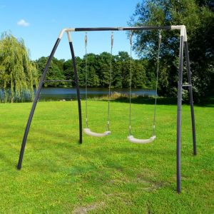Balançoire en métal 2 agrès Double Swing Gamm Vert