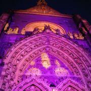 Noël 2013 à Thann : Le grand portail en lumière