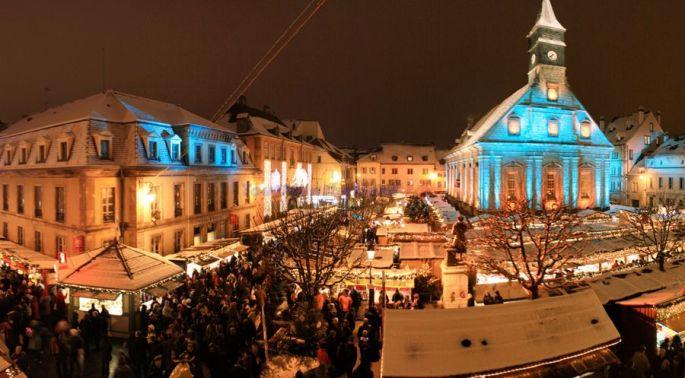 Les lumières de Noël à Montbéliard