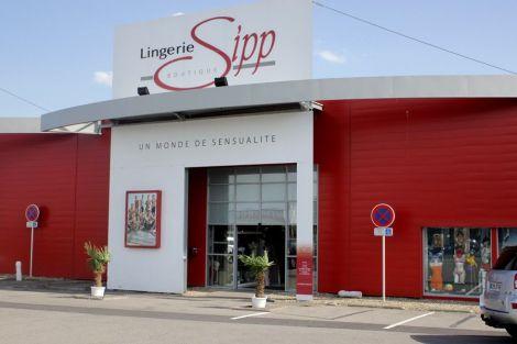 La devanture de la boutique Lingerie Sipp à Wittenheim.