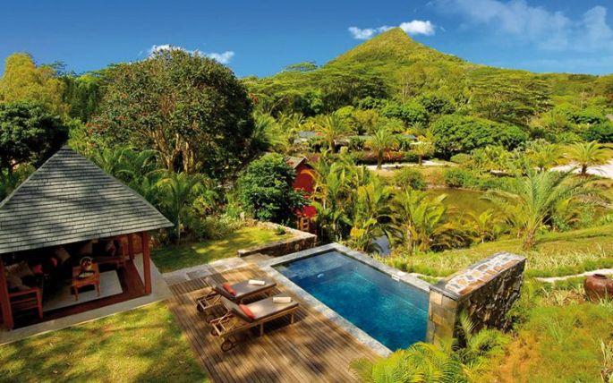 Lodge avec piscine privée