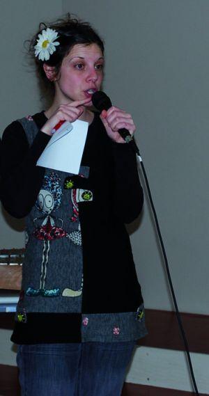 Lucie Rivaillé a animé des ateliers avec les collégiens de Marckolsheim qui se produiront sur scène le vendredi 8 avril