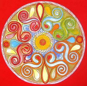 Mandala, dessin centré
