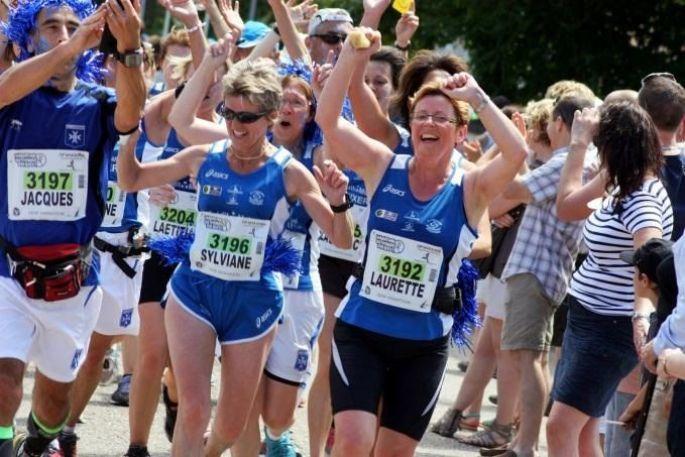 L\'arrivée du Marathon du Vignoble d\'Alsace se fait à Molsheim