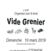 Marché aux puces à Ittenheim 2019