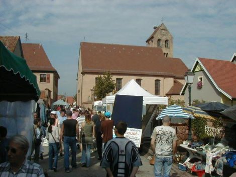 Marché aux puces à Meyenheim