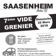 Marché aux puces à Saasenheim 2018