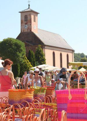 Marché aux puces à Soppe-le-Bas - Foire Saint-Vincent 2018