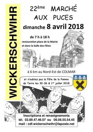 Marché aux puces à Wickerschwihr 2018