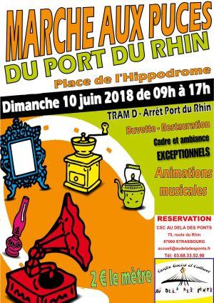 Marché aux Puces du Port du Rhin - Deux Rives à Strasbourg 2018