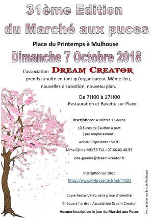 Marché aux puces Sainte-Geneviève à Mulhouse 2018