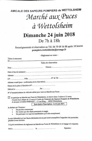 Marché aux puces Wettolsheim 2018