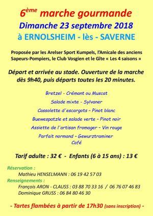 Marche gourmande à Ernolsheim-lès-Saverne 2018