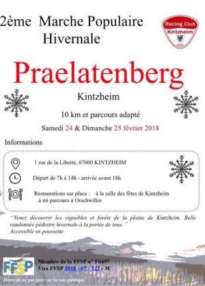 Marche populaire à Kintzheim 2018