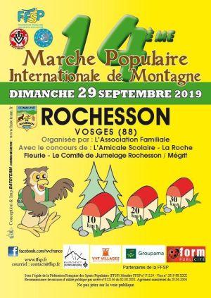 Marche populaire à Rochesson 2019