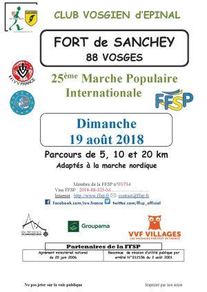 Marche populaire au Fort de Sanchey 2018