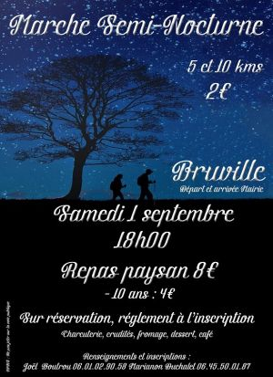 Marche populaire semi-nocturne à Bruville 2018