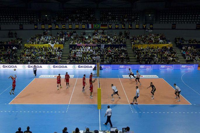 Un match de volley au Palais des Sports de Toulouse