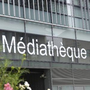 L\'entrée de la Médiathèque de Montbéliard
