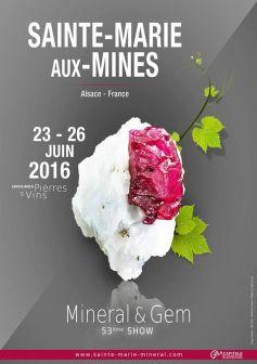 Min ral gem 2016 sainte marie aux mines foire et salon - Salon mineraux sainte marie aux mines ...