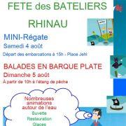 Mini Régate et Fête des bateliers à Rhinau 2018