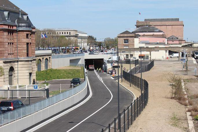 Le tunnel sous le parvis de la gare a été inauguré le 21 avril 2018