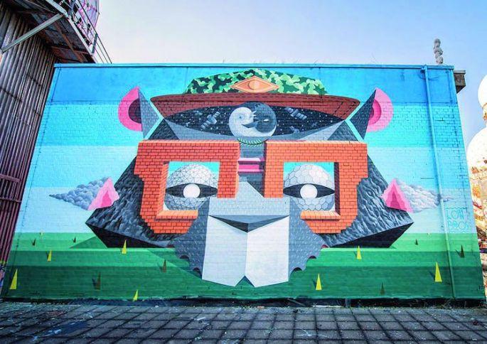 Fresque urbaine par Low Bros