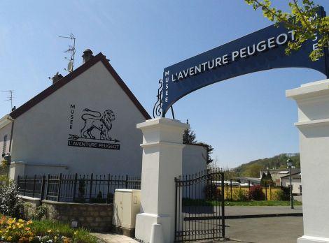 L\'entrée du Musée de l\'Aventure Peugeot