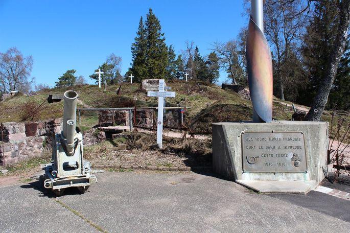 Les lignes de bataille sur le site du Mémorial du Linge
