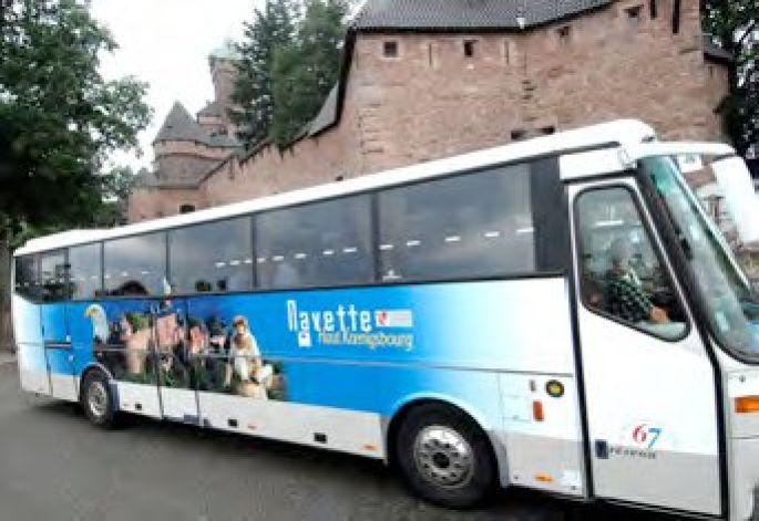 Bus navette n°500 pour se rendre au château du Haut-Koenigsbourg