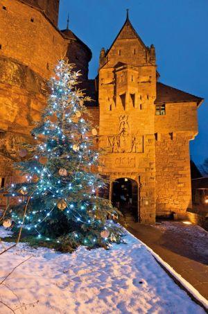 Le Haut-Koenigsbourg durant la période de Noël