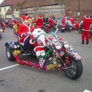 La Tournée des Pères Noël à moto en Alsace 2020