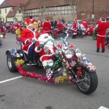 La Tournée des Pères Noël à moto en Alsace 2019