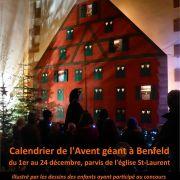 Noël 2018 à Benfeld : Animations et Calendrier de l\'Avent géant