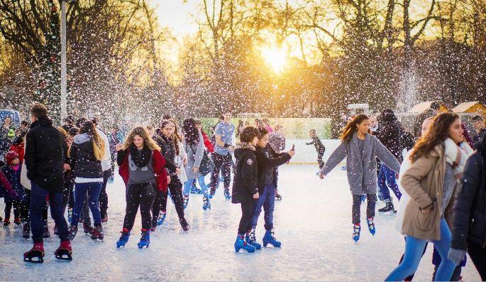 Noël à Colmar: La patinoire de Noël
