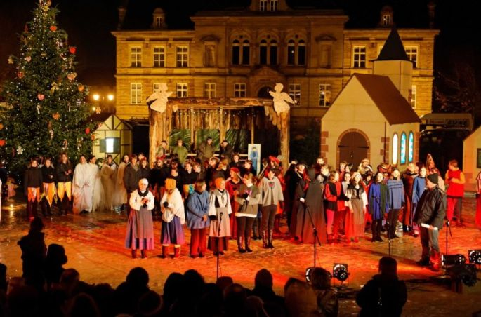 Noël 2017 à Bouxwiller (67) : Marché de Noël - Chriskindelsmärik
