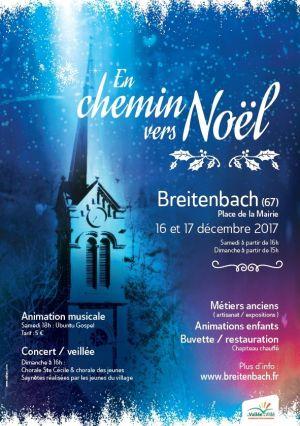 Noël 2017 à Breitenbach (67) : En chemin vers Noël